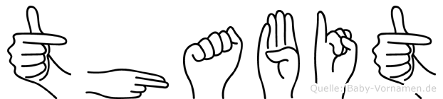 Thabit im Fingeralphabet der Deutschen Gebärdensprache