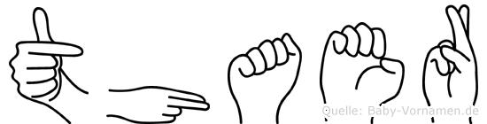 Thaer in Fingersprache für Gehörlose