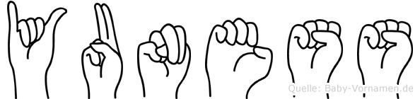 Yuness in Fingersprache für Gehörlose