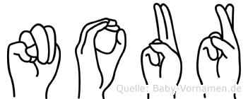 Nour in Fingersprache für Gehörlose
