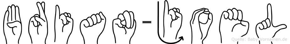 Brian-Joel im Fingeralphabet der Deutschen Gebärdensprache