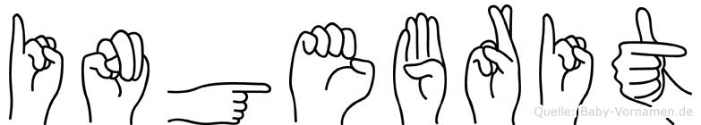 Ingebrit im Fingeralphabet der Deutschen Gebärdensprache