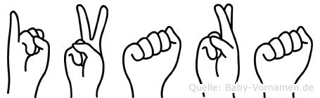 Ivara im Fingeralphabet der Deutschen Gebärdensprache