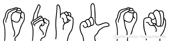 Odilon in Fingersprache für Gehörlose