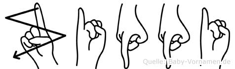 Zippi in Fingersprache für Gehörlose