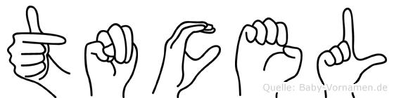 Tüncel in Fingersprache für Gehörlose