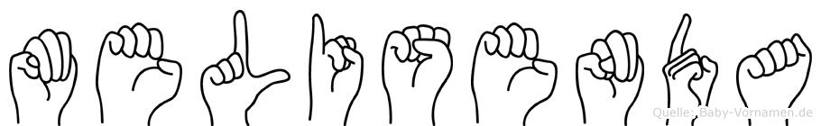 Melisenda im Fingeralphabet der Deutschen Gebärdensprache