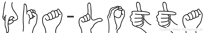 Pia-Lotta im Fingeralphabet der Deutschen Gebärdensprache