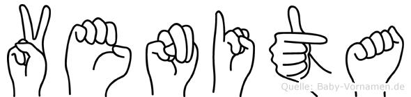 Venita im Fingeralphabet der Deutschen Gebärdensprache