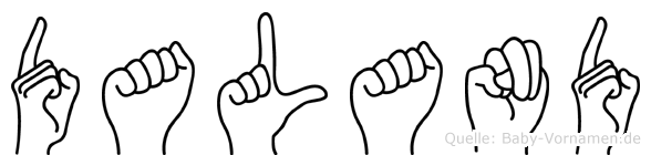 Daland im Fingeralphabet der Deutschen Gebärdensprache