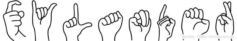 Xylander in Fingersprache für Gehörlose
