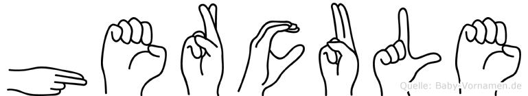 Hercule in Fingersprache für Gehörlose