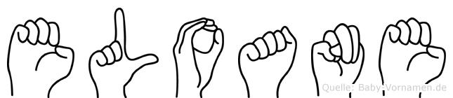 Eloane im Fingeralphabet der Deutschen Gebärdensprache