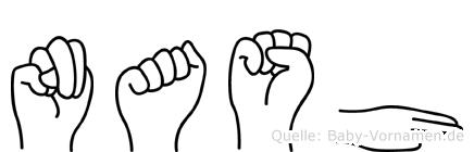 Nash im Fingeralphabet der Deutschen Gebärdensprache