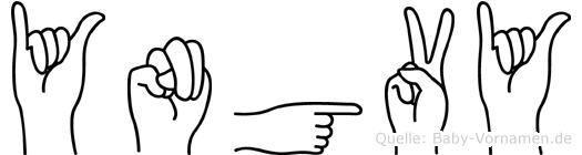 Yngvy im Fingeralphabet der Deutschen Gebärdensprache