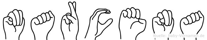 Marcena in Fingersprache für Gehörlose