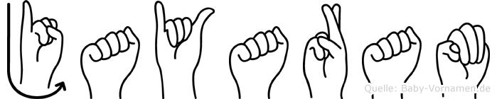 Jayaram in Fingersprache für Gehörlose