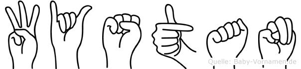 Wystan im Fingeralphabet der Deutschen Gebärdensprache