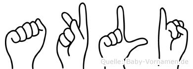 Akli in Fingersprache für Gehörlose