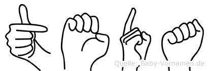 Teda in Fingersprache für Gehörlose