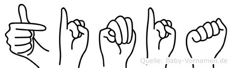 Timia in Fingersprache für Gehörlose