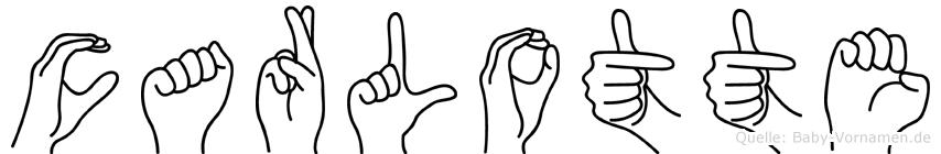 Carlotte im Fingeralphabet der Deutschen Gebärdensprache