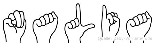 Nalia im Fingeralphabet der Deutschen Gebärdensprache
