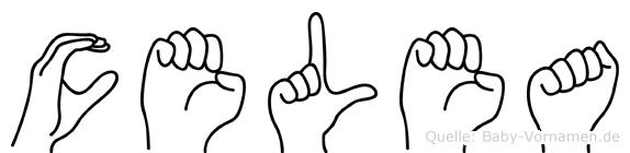 Celea im Fingeralphabet der Deutschen Gebärdensprache