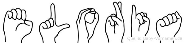 Eloria im Fingeralphabet der Deutschen Gebärdensprache