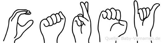 Carey in Fingersprache für Gehörlose