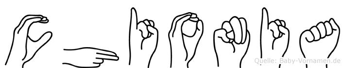 Chionia in Fingersprache für Gehörlose