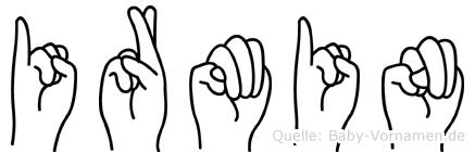 Irmin im Fingeralphabet der Deutschen Gebärdensprache
