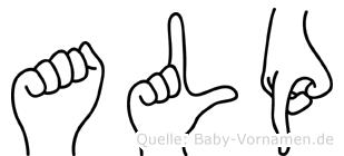Alp in Fingersprache für Gehörlose
