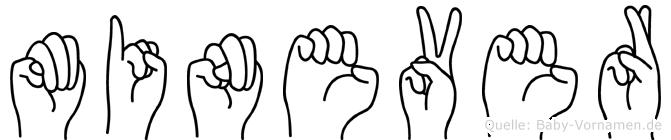 Minever in Fingersprache für Gehörlose