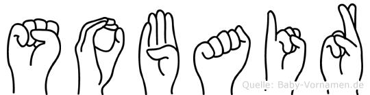 Sobair im Fingeralphabet der Deutschen Gebärdensprache