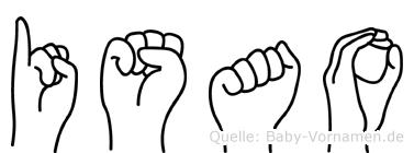 Isao im Fingeralphabet der Deutschen Gebärdensprache