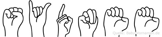 Sydnee im Fingeralphabet der Deutschen Gebärdensprache