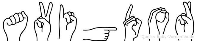 Avigdor im Fingeralphabet der Deutschen Gebärdensprache
