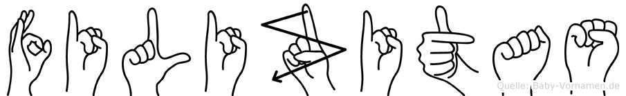 Filizitas in Fingersprache für Gehörlose