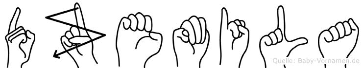 Dzemila in Fingersprache für Gehörlose
