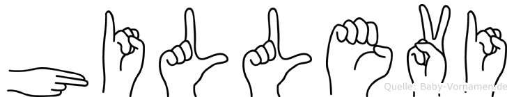 Hillevi in Fingersprache für Gehörlose