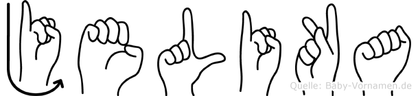 Jelika im Fingeralphabet der Deutschen Gebärdensprache