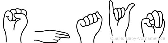 Shayn im Fingeralphabet der Deutschen Gebärdensprache
