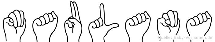 Maulana in Fingersprache für Gehörlose