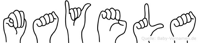 Mayela in Fingersprache für Gehörlose