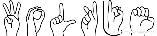 Wolkje in Fingersprache für Gehörlose