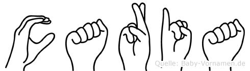 Caria im Fingeralphabet der Deutschen Gebärdensprache