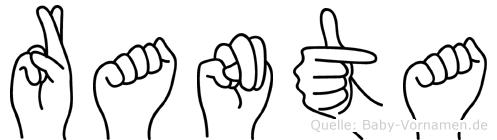 Ranta in Fingersprache für Gehörlose