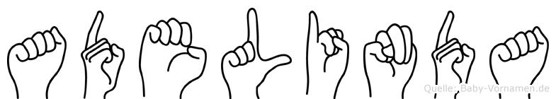 Adelinda in Fingersprache für Gehörlose
