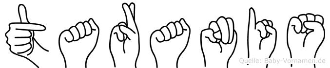 Taranis in Fingersprache für Gehörlose